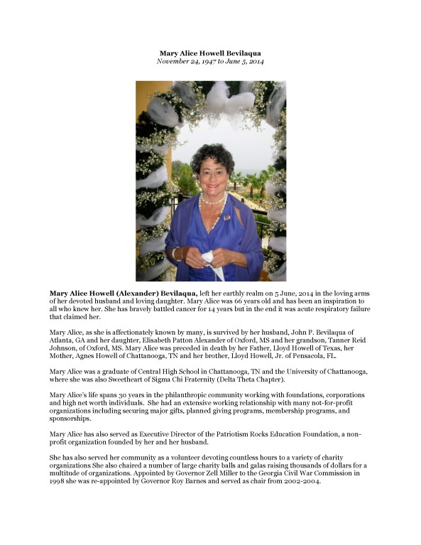 Mary Alice Howell Bevilaqua Obituary_Page_1